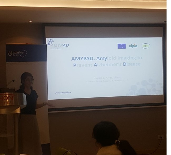 AMYPAD was presented at the Alzheimer Europe Academy
