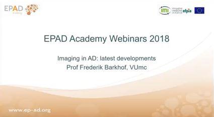 Frederik Barkhof gave a webinar on Imaging in AD: latest developments