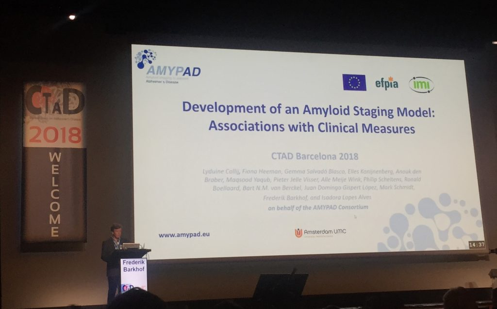 AMYPAD updates on progress at CTAD 2018
