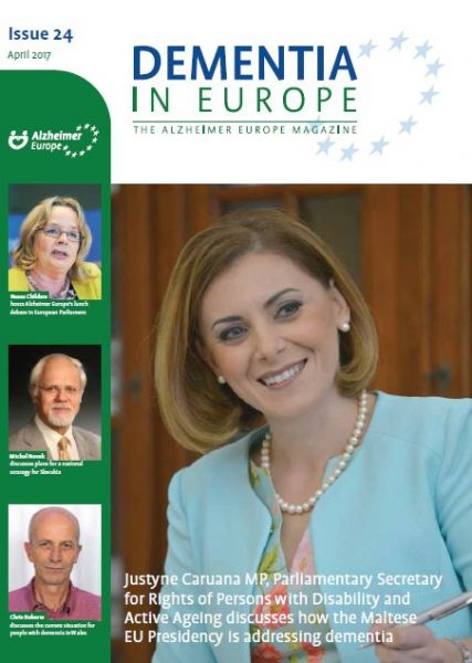 Interview in Dementia In Europe magazine