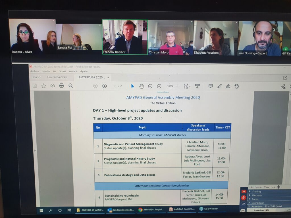 AMYPAD holds its first virtual General Assembly Meeting