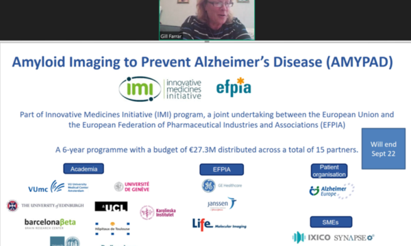 AMYPAD presents at the IMI event